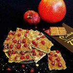 طرز تهیه شکلات اناری یا بارک شکلاتی شیرینی خوشمزه شب یلدا