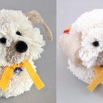 آموزش تصویری سگ پشمالو با نخ پشمی