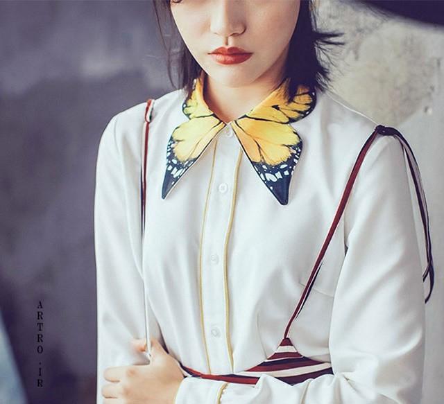 مدل تزیین یقه لباس مجلسی , تزیین یقه لباس دخترانه