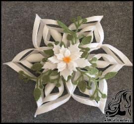 آموزش تصویری و گام به گام ساخت گل تزئینی رومیزی زیبا و شیک