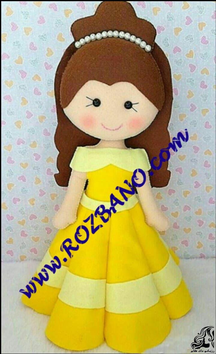 آموزش گام به گام و تصویری ساخت عروسک دختر پرنسس