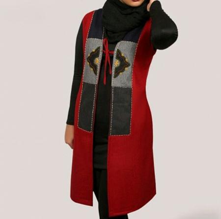 مدل مانتو قرمز نمونه هایی از جدیدترین مدل مانتوهای قرمز
