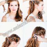 مدل مو جمع ساده برای موهای متوسط و بلند