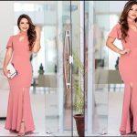 طراحی و رسم الگو خیاطی لباس مجلسی بلند زنانه با دامن ماهی بسیار شیک و زیبا