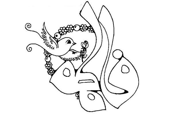 نقاشی کودکانه ویژه شهادت حضرت فاطمه (س) مخصوص رنگ آمیزی