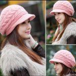 آموزش بافت یک کلاه  زمستانی زنانه با طرحی زیبا و نوع بافت خاصی