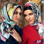 مدل بستن روسری چهارگوش با روش های جدید