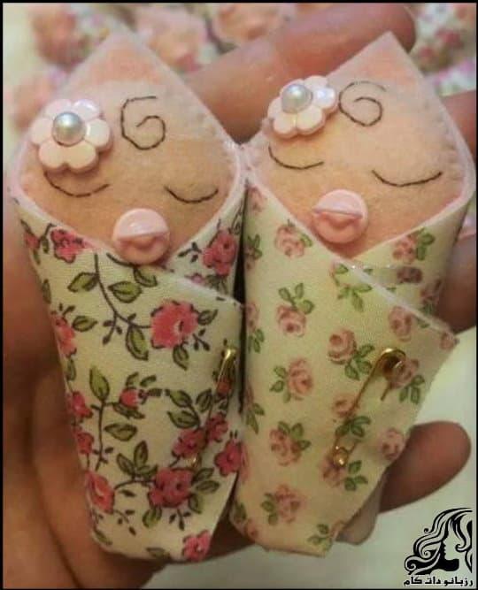 آموزش ساخت گیفت نوزاد برای زایمان و سیسمونی نوزاد