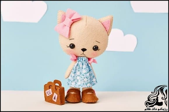 عروسک سازی و آموزش ساخت عروسک نمدی گربه